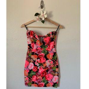 Ju Ju*Be Mini Dress Floral Strapless NWT